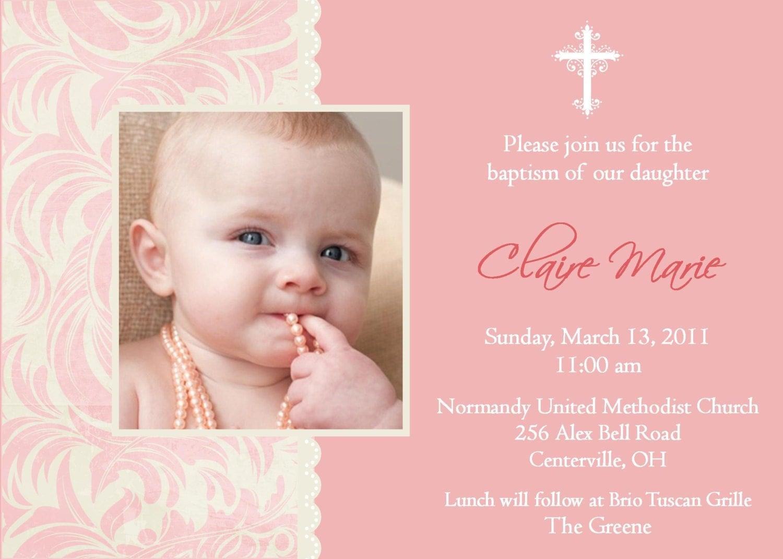Baptism invite dawaydabrowa baptism invite stopboris Choice Image