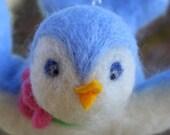 Needle-felted Sweet Baby Blue Bird