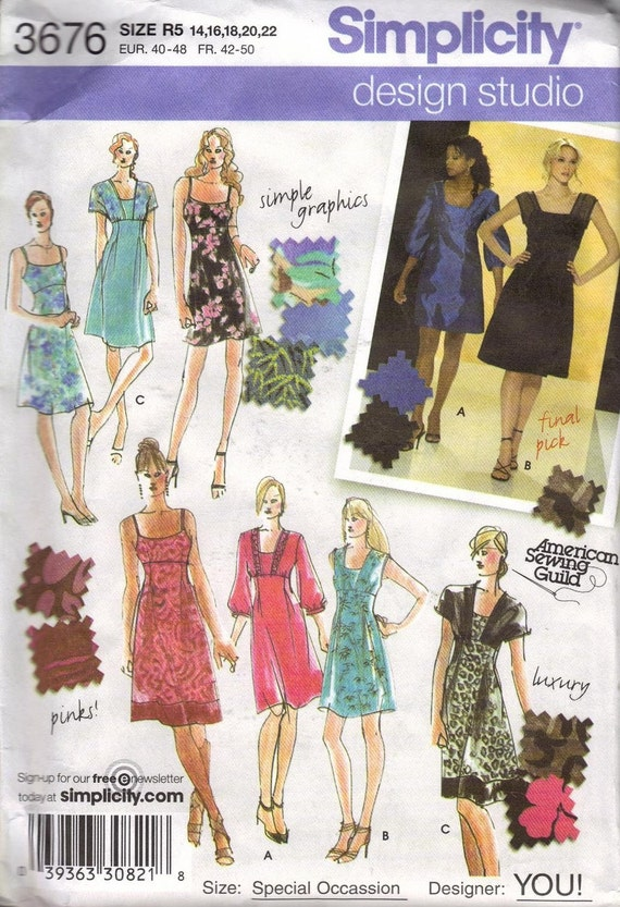 Simplicity Dress Pattern Design Your Own 3676