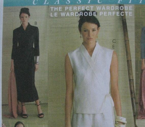 OOP McCalls 4007 Kimono Wrap Top and Dress Wardrobe Pattern  sz 8-14