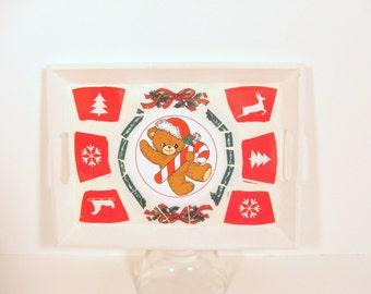 Teddy Bear Christmas Tray - Mosaic