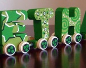 Personalized Three Letter Name Train