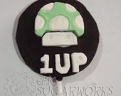 6  1-UP Mushroom chocolate lollipops