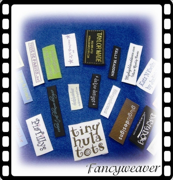 200pcs Custom Boutique Woven Clothing Labels (Letter Only) the Price Including Shipping