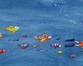 Swimming With The Fishes - Print