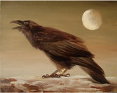Raven Song  ORIGINAL11x14 Oil on Canvas