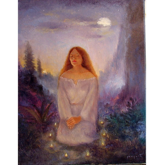 In The Circle of Light ORIGINAL11x14 Oil on Canvas