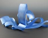 "Big Sky Blue Hanah  Silk Satin Ribbon 1"" Wide 3 yd Length"