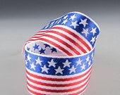 "1.5"" STARS and STRIPES FLAG Jacquard Ribbon"
