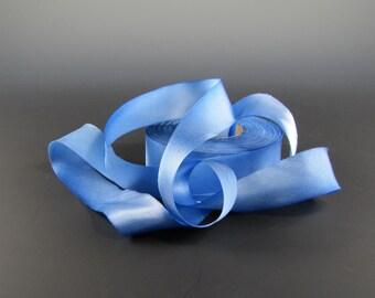 """1"""" SKY BLUE Hanah Silk Satin Ribbon  3 yd Length"""