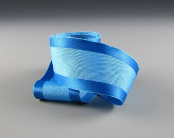 "1.5""  BLUE MOIRE SATIN Ribbon for Wedding Decorations"