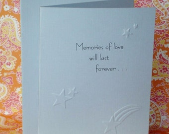 Memories of Love Sympathy Card / Child Loss / C