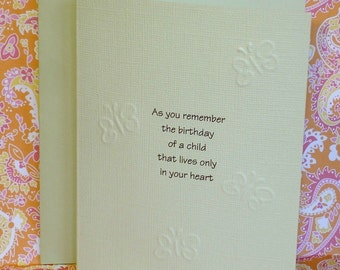 Loss of Child Birthday Remember Card