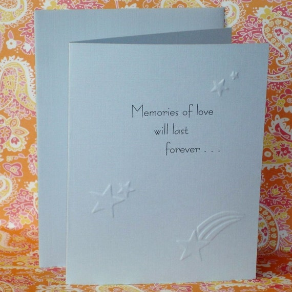 Memories Of Love Sympathy Card / Child Loss / C