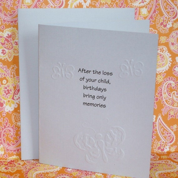 Items Similar To Loss Of Child Birthday Memory Card On Etsy