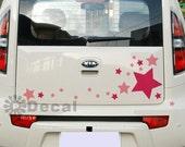 42pcs Mix Colors Stars Stardust Car Truck Sticker Decal