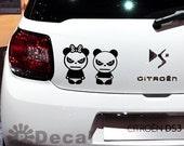 Angry Panda Car Window Door Decal Graphic Vinyl Sticker
