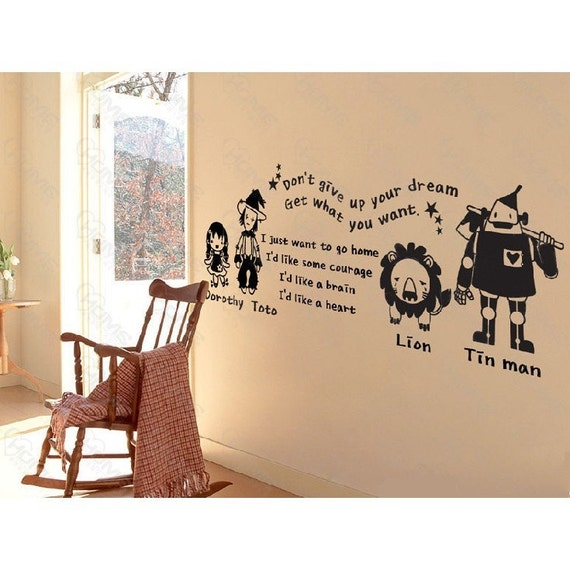 Exceptional Wizard Of Oz Wall Stickers Great Pictures Nice Ideas