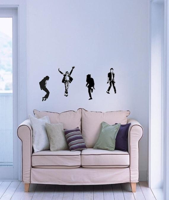 Set 4pcs Dancing Michael Jackson Wall Art Decal By Paulasdecal