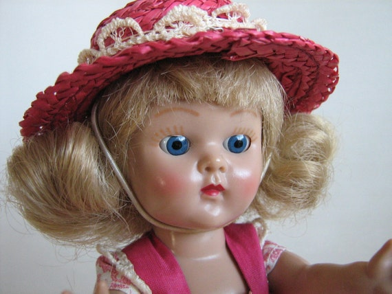 Vintage Vogue Ginny Doll With Painted Lashes 1954