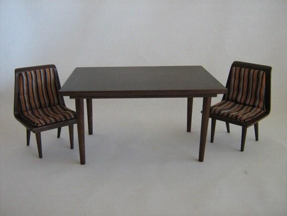 vintage mattel danish modern dining room set 1958