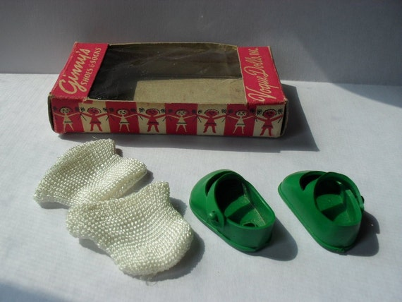 Vintage Ginny Doll Shoes and Socks in Original Box