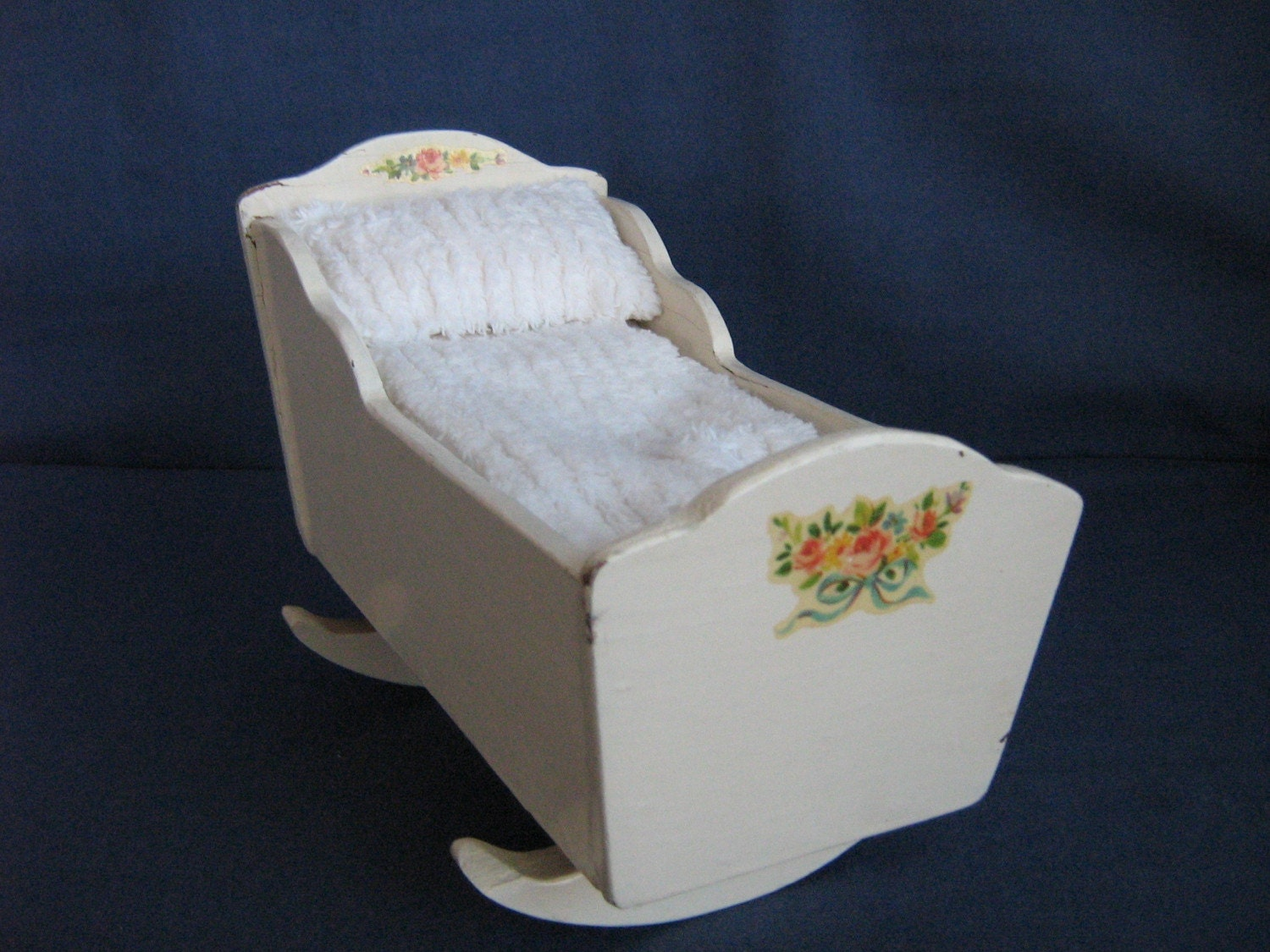 Tiny Vintage Baby Cradle For Small Dolls By Thetoybox On Etsy