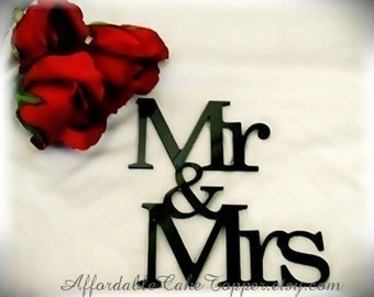 Wedding Cake Topper - Mr and Mrs Cake Topper - Mr and Mr - Mrs and Mrs- Many colors available -  Bride and Groom