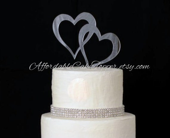 heart cake topper double heart cake topper two hearts cake