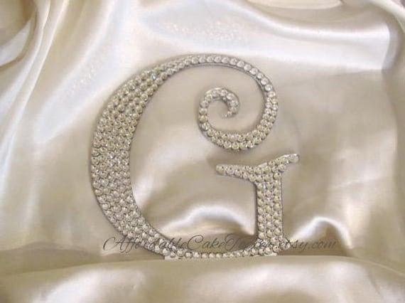 Crystal Cake Topper - Twilight Monogram Letter Cake Topper - Custom Wedding Cake Topper - Bride and Groom - Personalized