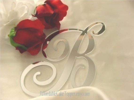 Wedding Cake Topper - Monogram Cake Topper - Letter Cake Topper - Silver Cake Topper - Gold Cake Topper - Many Colors Available