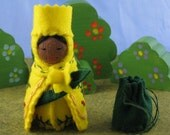 Yellow Daffodil Queen Doll - Waldorf inspired
