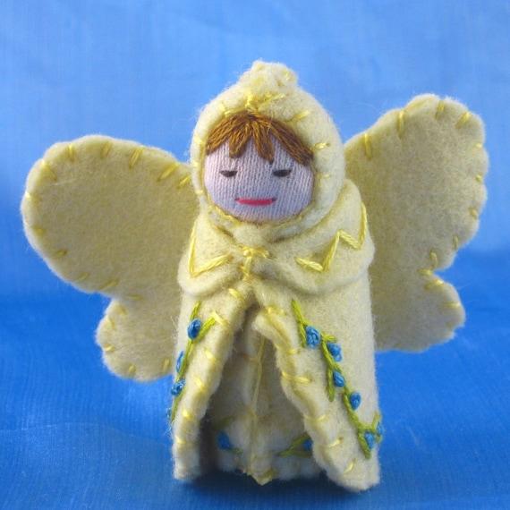 Straw Yellow Fairy Doll- Waldorf Inspired