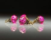 Vintage Style Bead Dangles Pink Glass PK113