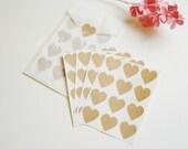 Kraft Heart Sticker - Envelope Seals