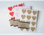 Heart Stickers - Envelope Seals.....Choose your color - FREE SHIPPING.