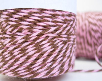 Pink and Brown Bakers Twine by Timeless Twine - Strawberry Truffle