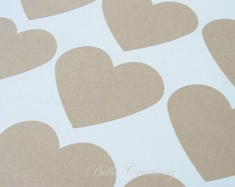 Jumbo Kraft Heart Stickers - Envelope Seals