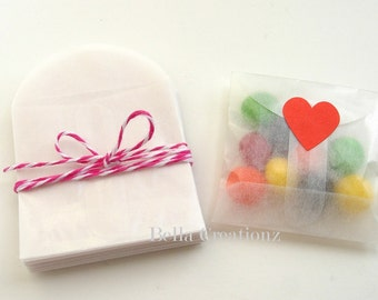 "25 Mini Glassine Envelopes - 2-1/8"" x 2-1/8""  Perfect for 2""x2"" note cards"
