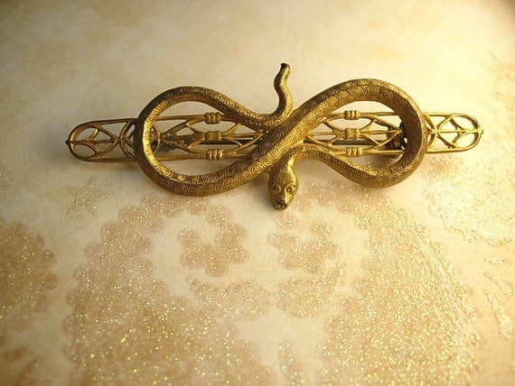 Antique snake brooch Victorian serpent aesthetic movement