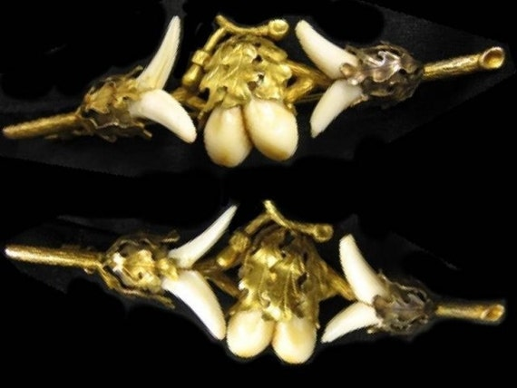 RARE 14KT GOLD PRe Civil war Aesthetic tooth brooch voodoo layaway available