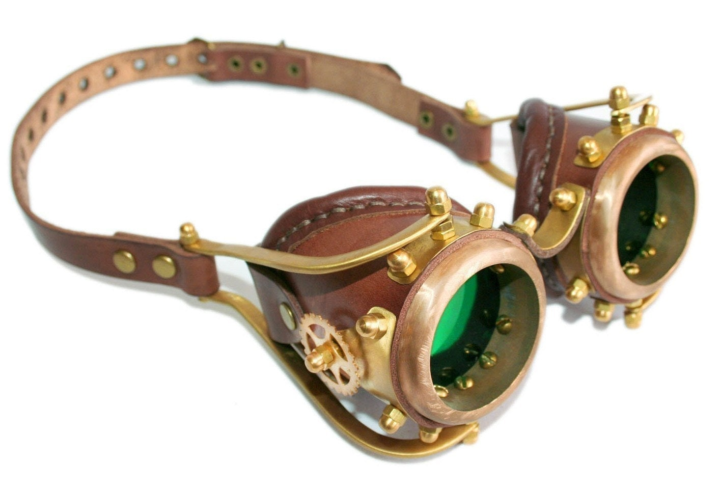 Steampunk goggles from solid brass Anatoray Volunteer's