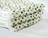 Lil Burpie Embellished Prefold Blue Dots set of 3