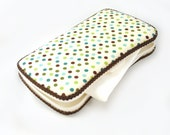 Boutique Dotted Covered Travel Wipes Case