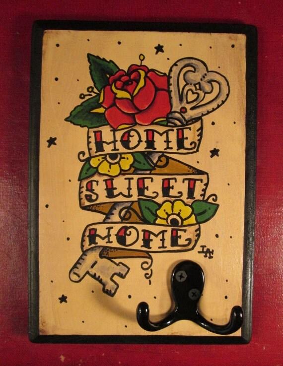 Tattoo Style Rockabilly Jewelry / Key  Hook
