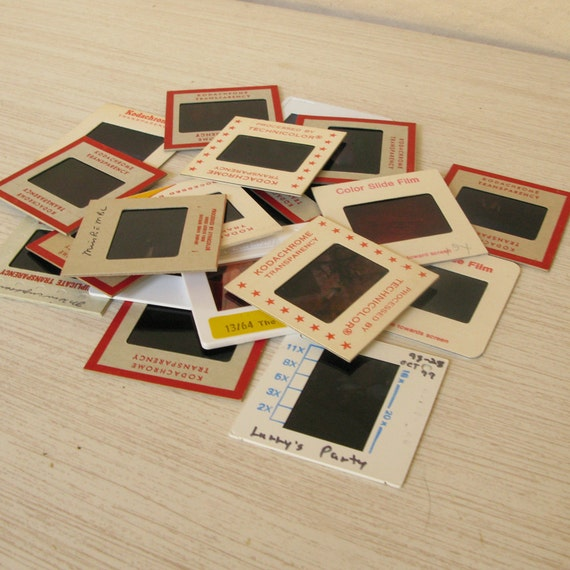 20 VINTAGE Film Slides COLOR