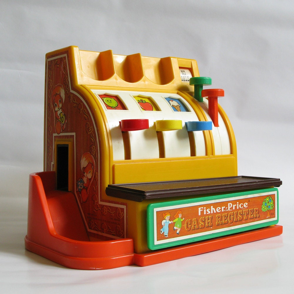 Toy Cash Register : Vintage fisher price toy cash register