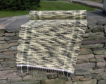 Twisted Yellow and Black Rug