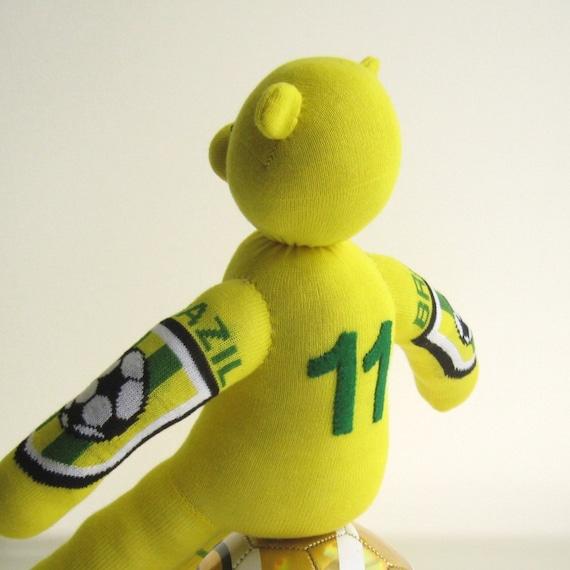 World Cup 2010 - Handmade Brazil Sock Bear