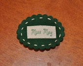 Miss May Hair Clip - Emerald Birthstone